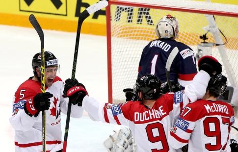 Сборная Российской Федерации похоккею вышла вполуфинал домашнего Чемпионата мира