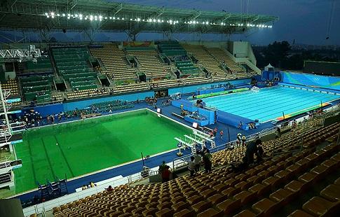 Синхронистки рискуют выступать в«болотце»— Скандальная Олимпиада