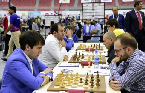 Украинские шахматисты обыграли сборную России навсемирной Олимпиаде