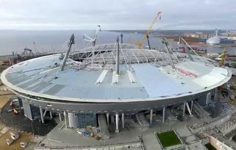 Настадионе вПетербурге пройдет испытание раздвижной крыши