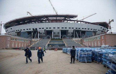 Стадион наКрестовском острове Петербурга вызвал тревогу уМутко
