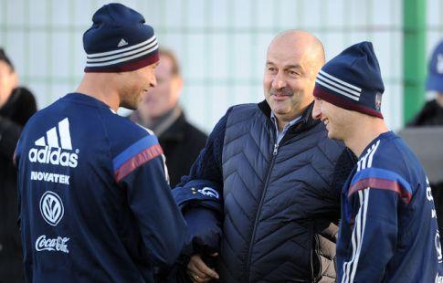 Футболист сборной Российской Федерации Жирков тренируется по особой программе
