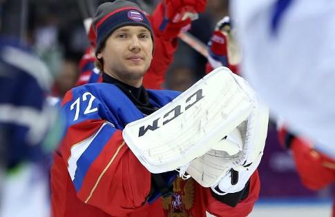 Хоккеист изКузбасса Сергей Бобровскй признан первой звездой матча НХЛ