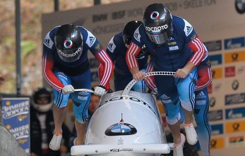 Экипаж Александра Касьянова победил напервом этапе Кубка мира побобслею