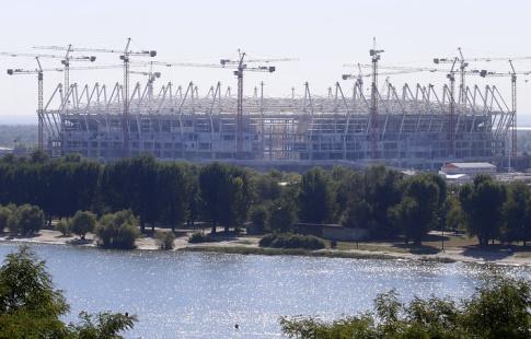 Настадионе «Ростов-Арена» завершен монтаж каркаса кровли