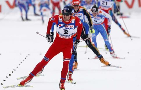 Крог одержал победу масс-старт на15км, Легков— третий