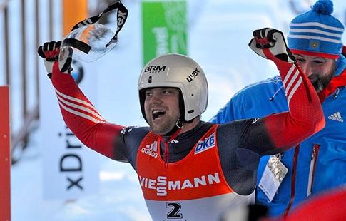 Саночник Павличенко одержал победу этап Кубка мира вЛатвии
