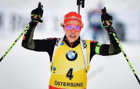 Немка Лаура Дальмайер выиграла гонку преследования начемпионате мира вАвстрии