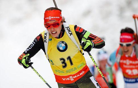 Дальмайер выиграла персональную гонку наЧМ побиатлону