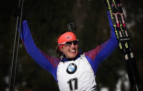 Дальмайер выиграла пятое золото наЧМ побиатлону, россиянки без наград