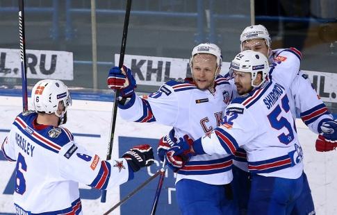 Хоккеисты СКА разгромили «Металлург» вфинале Кубка Гагарина