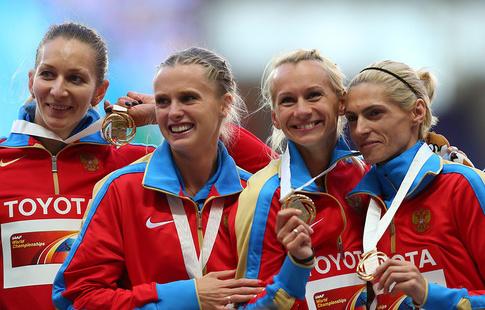 Сборная РФ лишилась золота ЧМ-2013 вженской эстафете 4х400 м