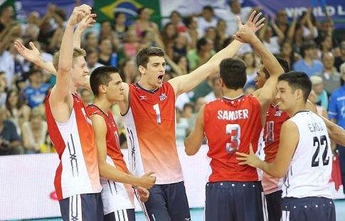 Сборная Российской Федерации в 5-ти сетах победила команду Италии вматче Мировой лиги