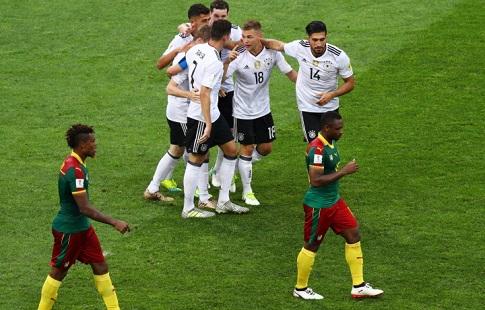 Сборная Германии одержала победу над командой Камеруна срезультатом  3:1