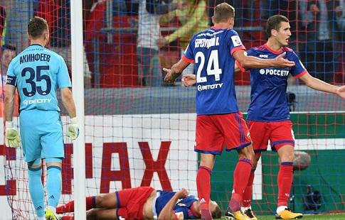 Ляп вратаря сборной Российской Федерации позволил ЦСКА сравнять счёт вматче с«Локо»