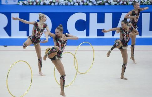 Сборная Российской Федерации  завоевала золотоЧМ похудожественной гимнастике вмногоборье