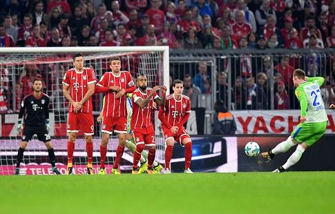«Бавария» не смогла побороть в6-м туре бундеслиги «Вольфсбург»