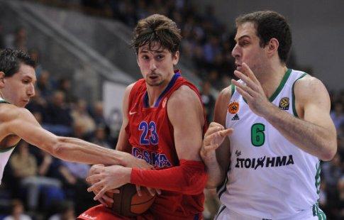 Баскетболисты ЦСКА победили «Панатинаикос» вматче Евролиги