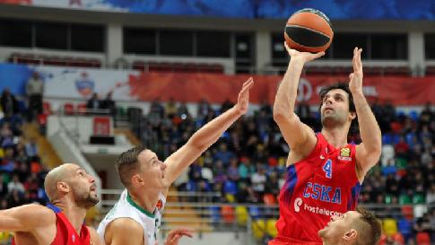 ПБК ЦСКА победил «Жальгирис» вматче баскетбольной Евролиги