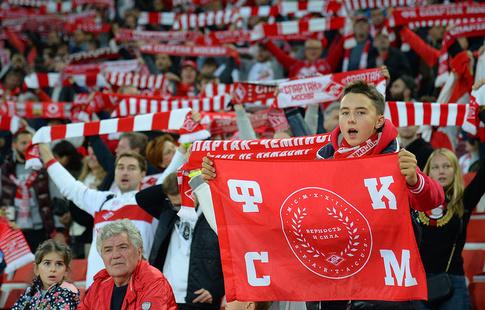 «Спартак» занял 4-ое место вевропейских странах поприросту посещаемости, «Краснодар»— пятое