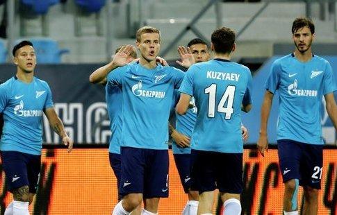 ФК «Зенит» забил 5 безответных мячей вворота «Копенгагена» втоварищеском матче