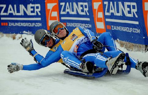 Российские саночники выиграли сприн на этапе КМ в Латвии