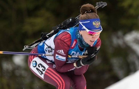 Русская биатлонистка Виктория Сливко выиграла спринт наэтапе Кубка IBU
