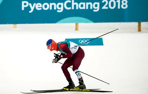 Спицов финишировал четвёртым в скиатлоне на ОИ-2018