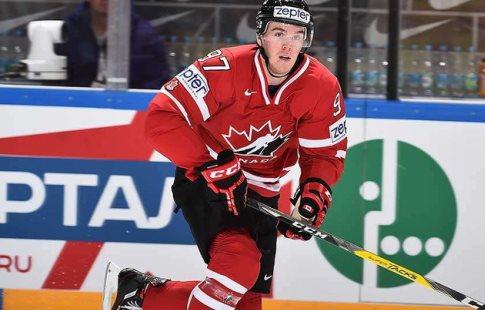 Макдэвид принес сборной Канады победу вовертайме над командой Латвии наЧМ