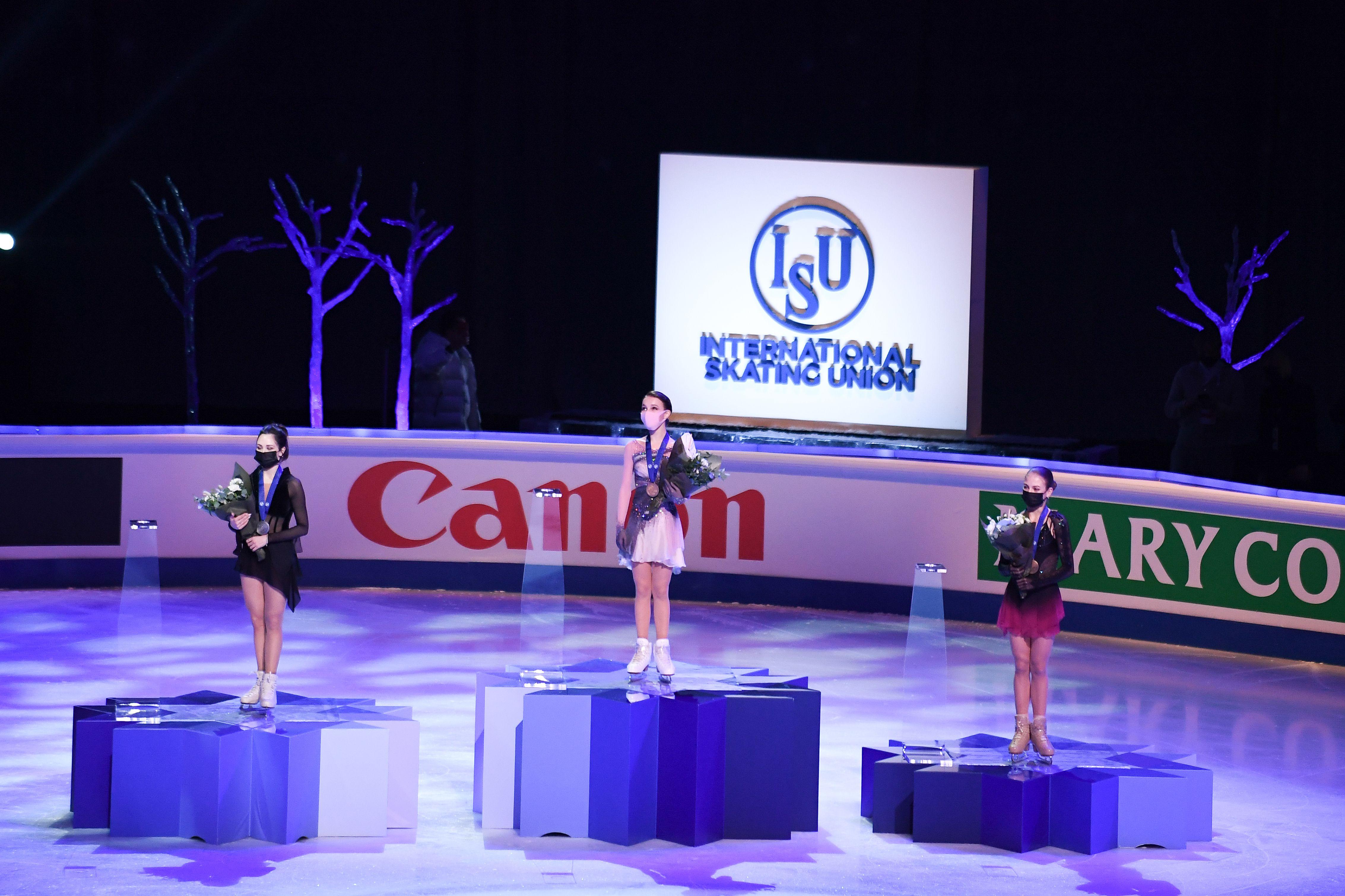 За победу на ЧМ-2021 Щербакова заработала 64 тысячи долларов, Трусова получила 33 тысячи