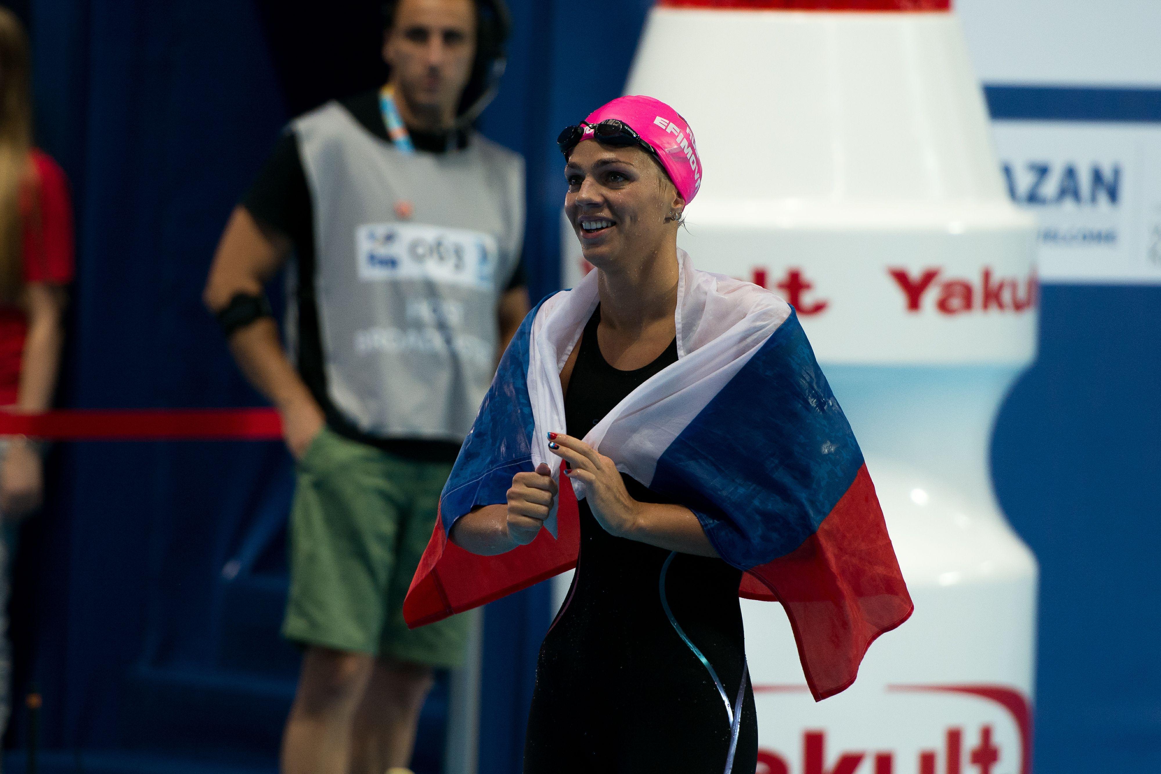 Ефимова - чемпионка России на дистанции 50 метров брассом!