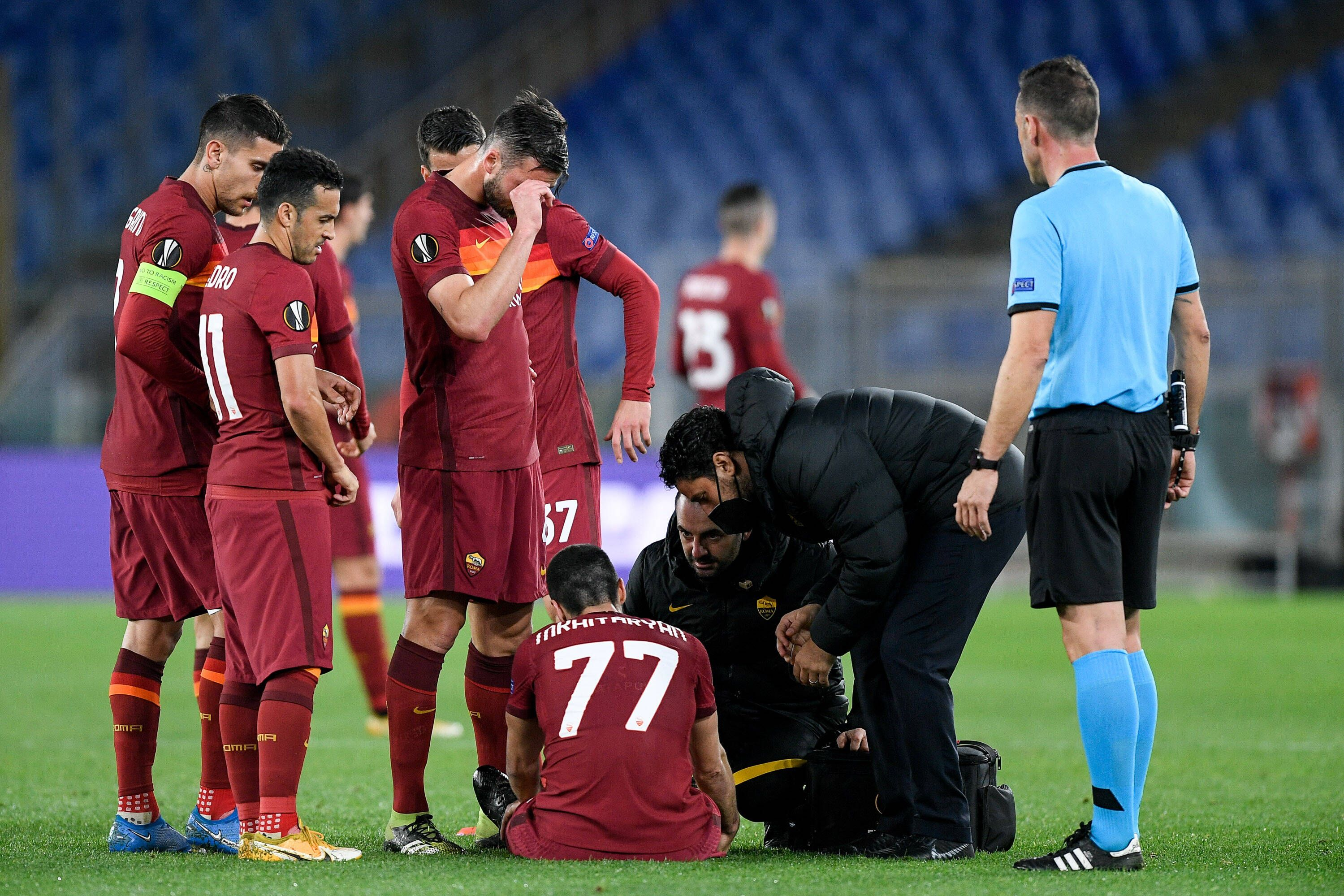 Футболист Ромы Мхитарян восстановился после травмы