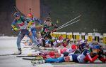 Сборная России - первая в эстафете на молодёжном ЧМ по биатлону