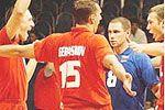 Российские волейболисты взяли реванш у чехов