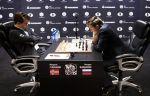Карлсен ушёл с пресс-конференции после 8-й партии с Карякиным. ВИДЕО