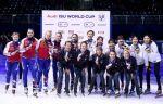 Женская сборная России завоевала бронзу в эстафете на первом этапе КМ по шорт-треку