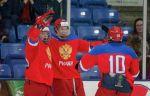 Хоккеисты юниорской сборной России обыграли команду США в выставочном матче