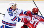 СКА отправил пять шайб в ворота ЦСКА и повёл в серии 2-1