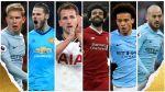 PFA опубликовала список претендентов на звание игрока года в Англии