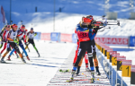 Французские биатлонистки выиграли эстафету в Рупольдинге, Россия — 5-я