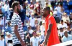 Цонга и Пэр сыграли в теннис ногами прямо во время матча. Видео