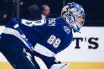 Первая результативная передача Василевского в плей-офф НХЛ. ВИДЕО