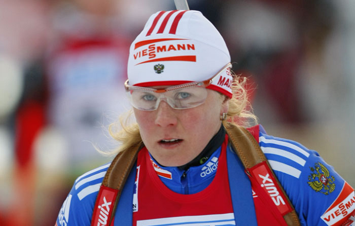 """Яна Романова: """"Лыжи сегодня работали хорошо, но трасса тяжёлая"""""""