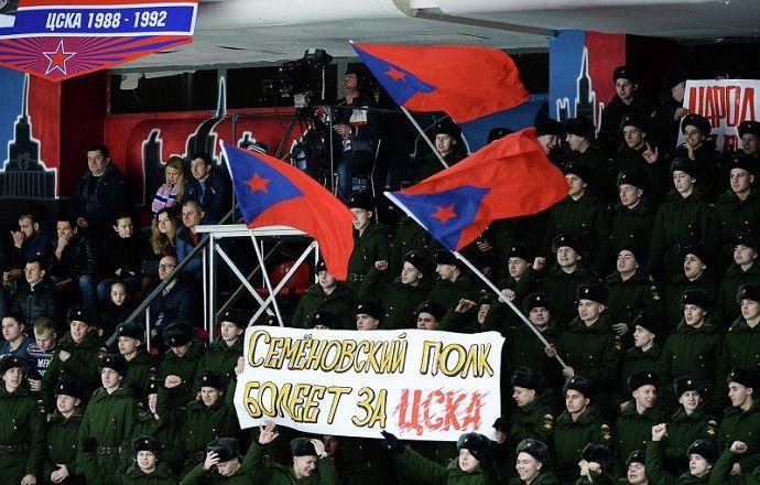 Хоккеисты и болельщики ЦСКА после седьмого матча. ВИДЕО