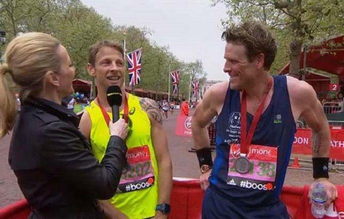 Дженсон Баттон выступил в ежегодном Лондонском марафоне
