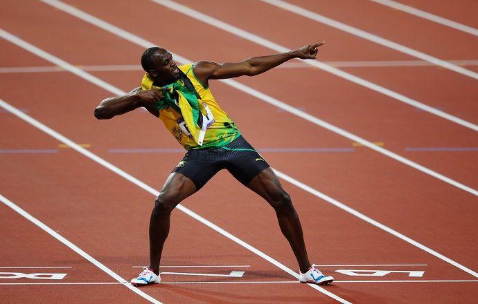 Сборная Ямайки с Усэйном Болтом стала второй в эстафете 4 по 100 м