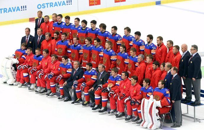 Сборная России провела командную фотосессию