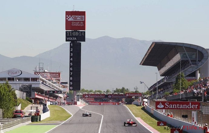 Нико Росберг - лучший по итогам первой практики Гран-при Испании, Квят - 7-й
