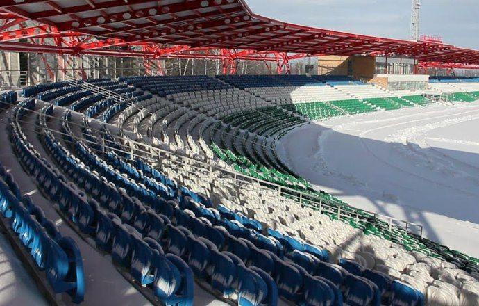 """Игроки """"Уфы"""" впервые посетили новый стадион клуба. ВИДЕО"""