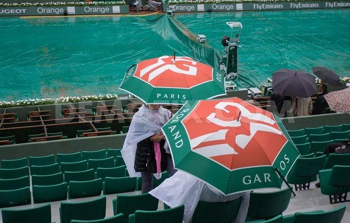 """Матчи восьмого игрового дня """"Ролан Гаррос"""" прерваны из-за дождя"""